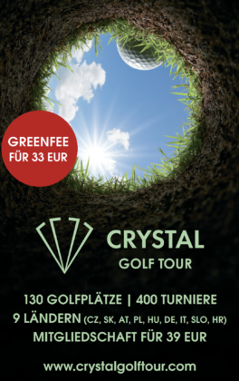 Crystal Golf Tour Pin