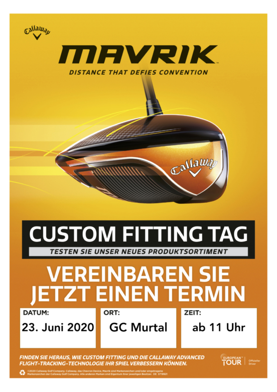 Poster Callaway Fitting Day 2020
